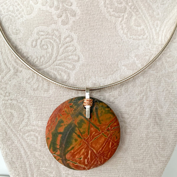 Circle Cherry Creek Jasper Pendant