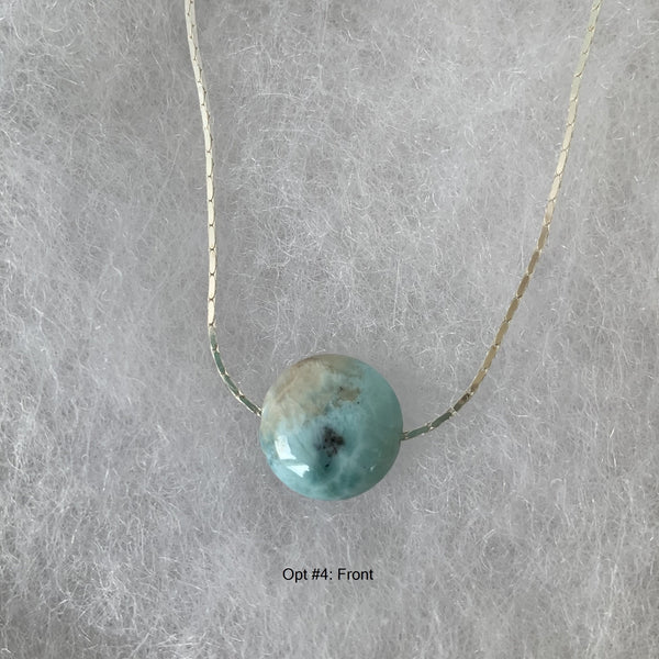 larimar pendant on sterling silver chain
