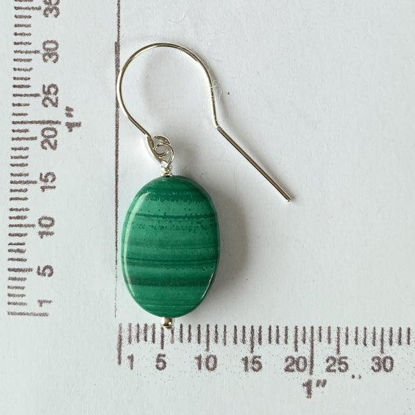 Malachite dangle earrings