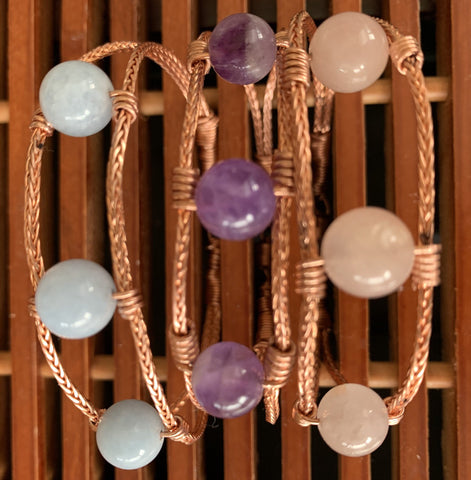 Quartz copper bracelet
