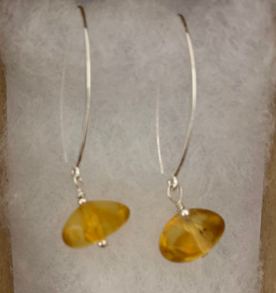 Timeless Amber Dangle Earrings