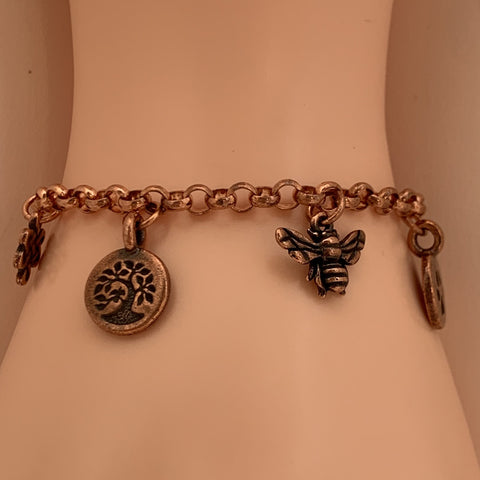 Charms Copper bracelet
