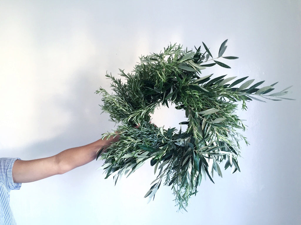 Wreaths Portland Oregon. Ship wreaths: eucalyptus, olive, bay, magnolia, christmas