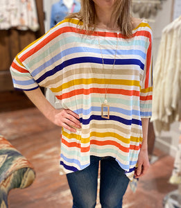 Oversized Strip Top