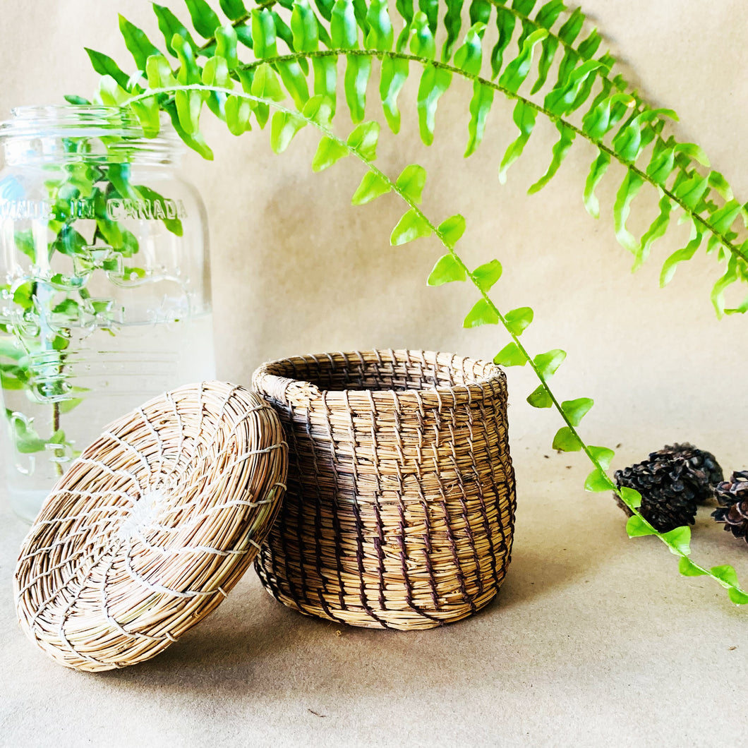 Ontario Coniferous Basket | 4 inch with Lid