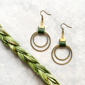 Boho Hoops | Bottle Green