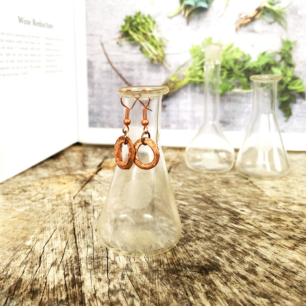 Reclaimed Earrings | Newfoundland Hammered Copper