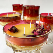 Load image into Gallery viewer, Depression Glass Beeswax Candles