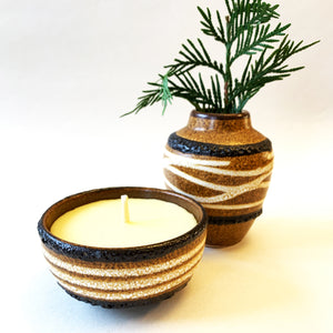 Reclaimed Beeswax Candles | German Pottery