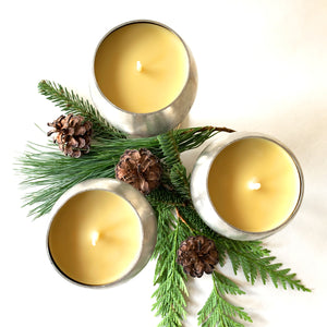 Reclaimed Beeswax Candles | Pewter Goblet