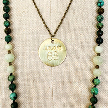 Load image into Gallery viewer, Necklace | Solid Brass Numerology Tags