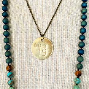 Necklace | Solid Brass Numerology Tags