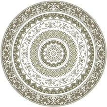Load image into Gallery viewer, Mandala style round green color pvc mat area rug