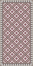 Load image into Gallery viewer, Bordeaux color vinyl mat design inspired by Spanish floor tiles - area mat 3'x5'
