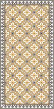Load image into Gallery viewer, Golden color vinyl mat design inspired by Spanish floor tiles - area mat 3'x5'