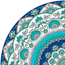 Load image into Gallery viewer, Mandala style Turquoise color vinyl mat sample