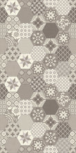 Load image into Gallery viewer, Beige patchwork vinyl mat design -area rug 3'x5'
