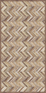 Nature hardwood floor durable and non washable  vinyl mat design - area rug