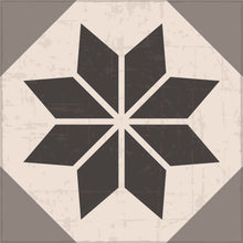 Load image into Gallery viewer, Grey vinyl mat inspired by Spanish floor tiles - sample