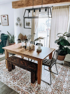Trendy dining area rug