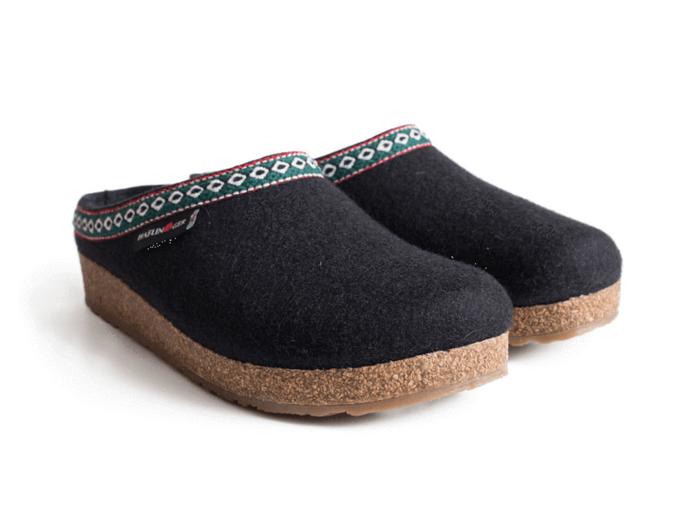 Haflinger Men's Grizzly Slipper Black