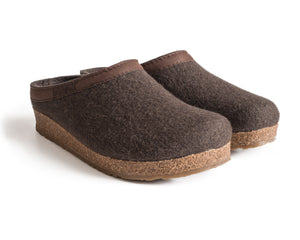 Haflinger Women's Grizzly with Leather Smokey Brown