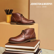 Load image into Gallery viewer, Johnston & Murphy Copeland Chukka Red Brown