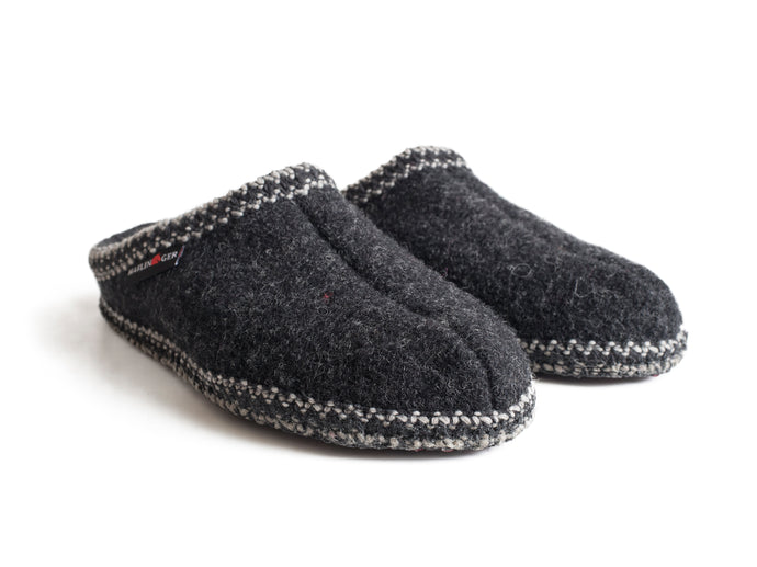 Haflinger Men's Soft Sole Slipper Charcoal