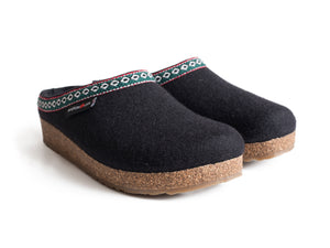 Haflinger Women's Grizzly Slipper Black
