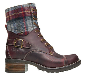 Taos Crave Bordeaux Plaid