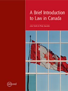 Brief Introduction to Law in Canada by Fairlie 9781772552331 *95c OE