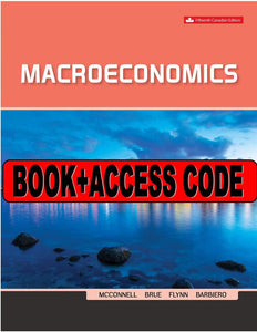 Macroeconomics 15th Canadian Edition with Connect by McConnell 9781260305876 *80c