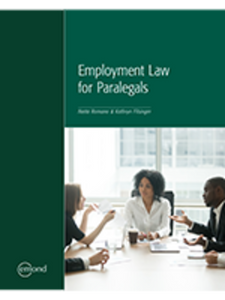 Employment Law for Paralegals by Netta Romano 9781772554182 *85e