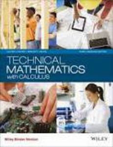 Technical Mathematics with Calculus, 3rd Canadian Edition by Michael A. Calter, Paul A. Calter, Loose Leaf 9781118962169