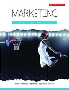 Marketing the Core 5th Canadian edition with Connect Access Code by Kerin PKG 9781259269325 *DND *60g
