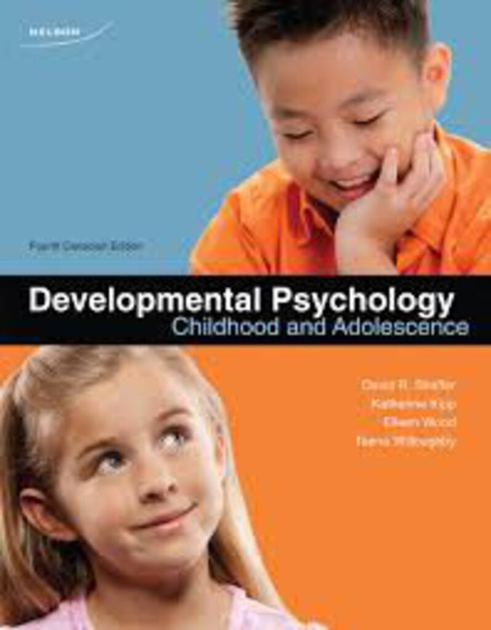 Developmental Psychology 4th Canadian Edition by David Shaffer, Katherine Kipp 9780176503499 (Used:Good)