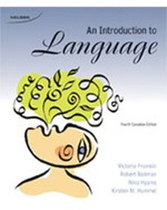 An Introduction to Language 4th edition by Hyams Rodman Fromkin 9780176501198 *67d