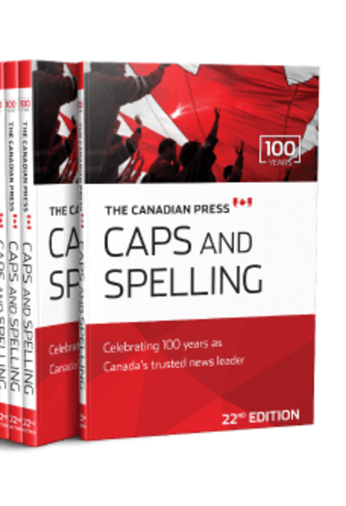 Canadian Press Caps and Spelling 22nd Edition 9780920009567 (USED:GOOD) *139h
