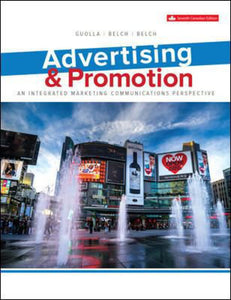 Advertising and Promotion 7th edition by Michael Guolla George Belch 9781260065985 *adj