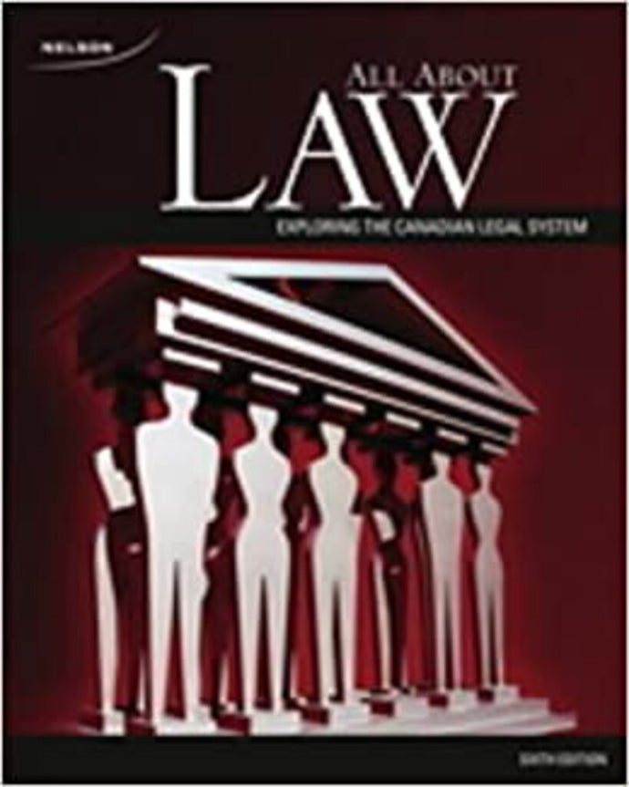 *PRE-ORDER ON DEMAND, APPROX 4-6 BUSINESS DAYS* All About Law 6th edition by Terry Murphy 9780176354831