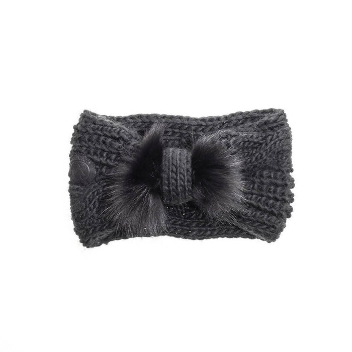 Chunky headband with reused fur