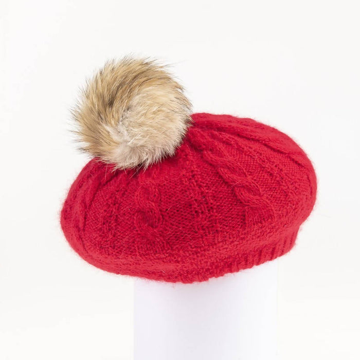 Virginia - angora beret with pom