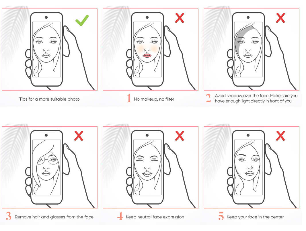 How to take a good face photo