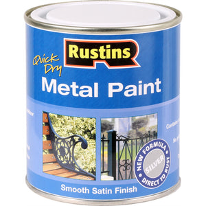 Quick Dry Metal Paint 500 ml - Silver - Galdes & Mamo
