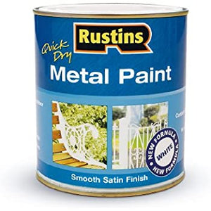 Quick Dry Metal Paint 500 ml - White - Galdes & Mamo
