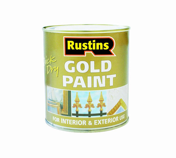 Quick Dry Metal Paint 500 ml - Gold - Galdes & Mamo