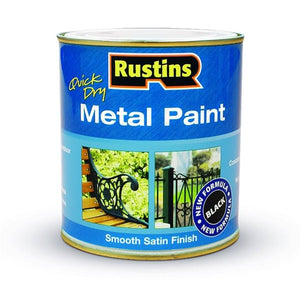 Quick Dry Metal Paint 500 ml - Black - Galdes & Mamo
