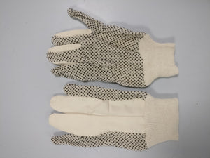 Pair Cotton work gloves with grip dots Size L - Galdes & Mamo