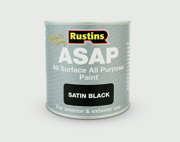 Quick dry ASAP Paint 250ml - Satin Black - Galdes & Mamo