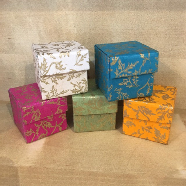 Traidcraft Hand Made Paper Gift Box - Floral Design